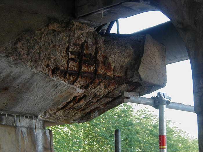 etat avant travaux pont camille de hogues