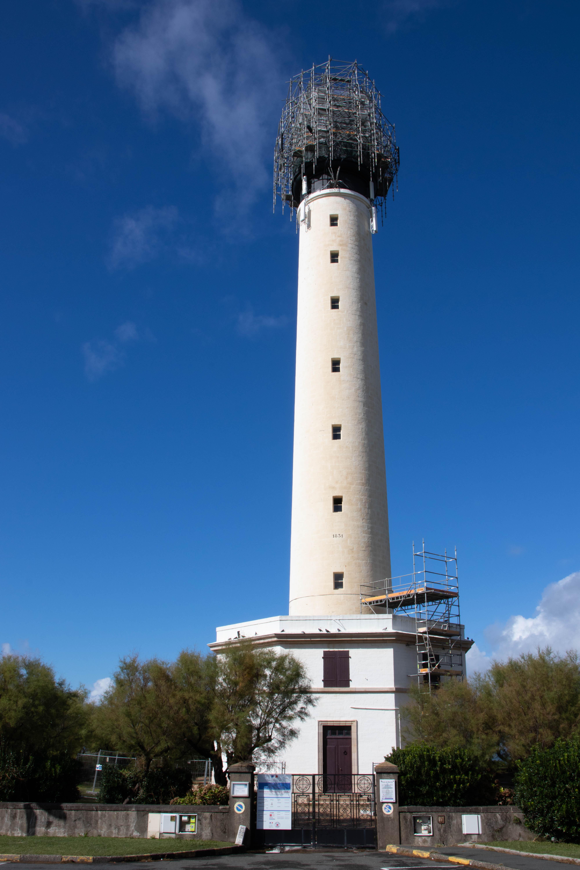 Travaux de restauration du Phare de Biarritz