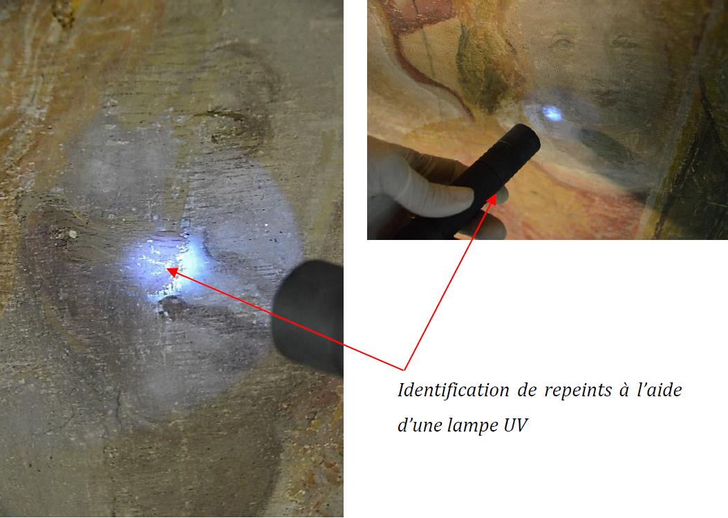 critique-authenticite-decor-peintIdentification de repeints sous lumière UV