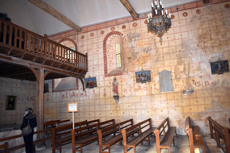 Décors peints de la nef