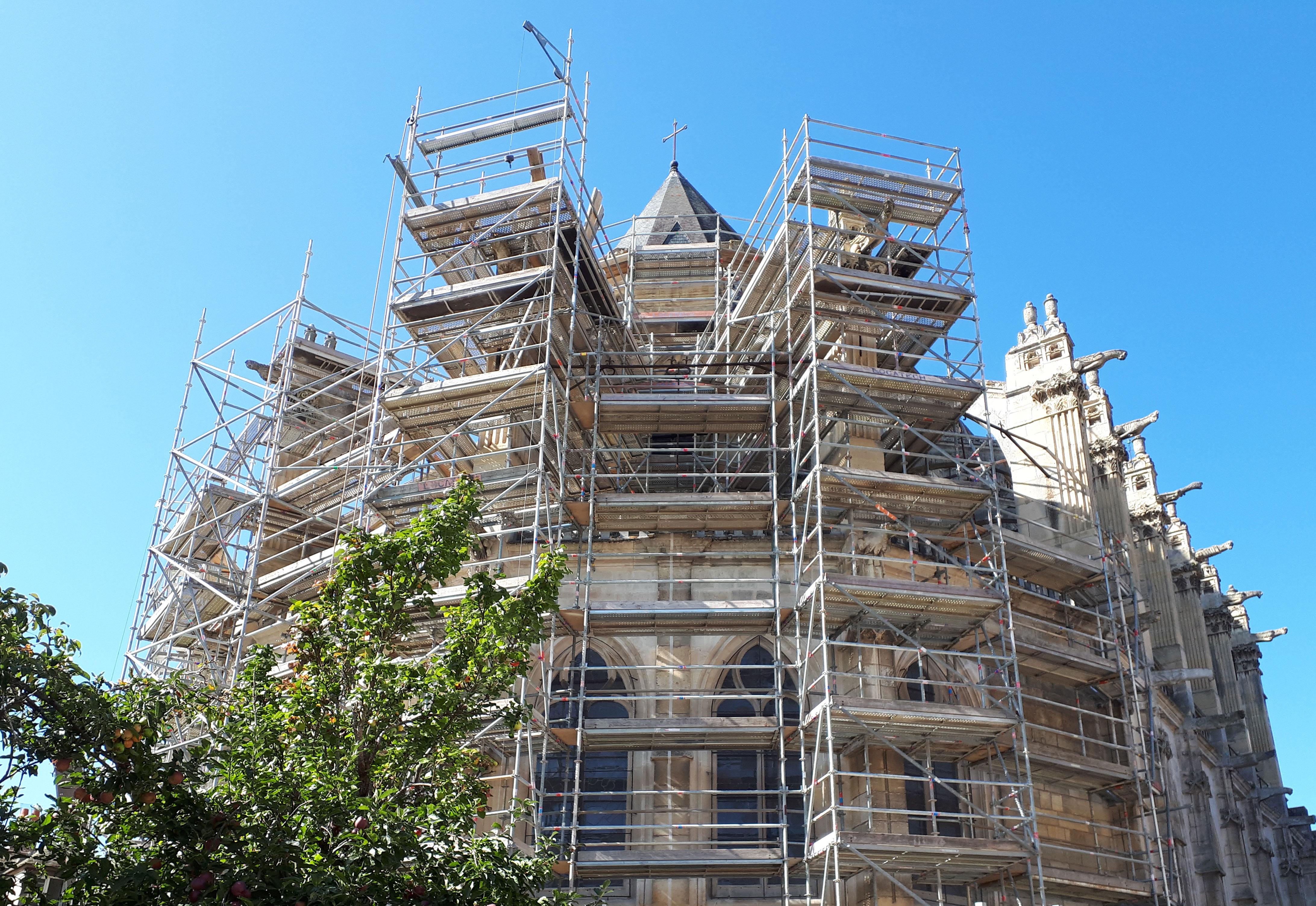 restauration façades église Montford l'amaury Lefèvre