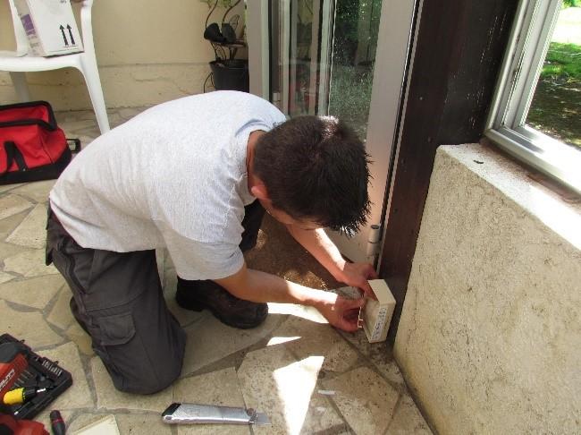 mise ne place de piege pour termites
