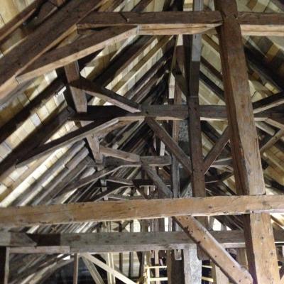 Restauration abbaye charpente bois