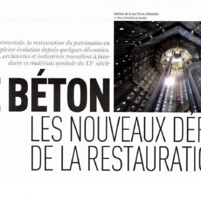 Le béton : les nouveaux défis de la restauration