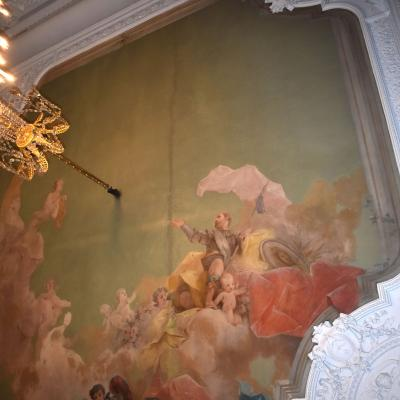 Plafond peint par Faustin Besson